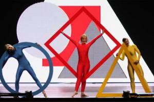 Hintergrundgestaltung auf Videowand zum Jahresprogramm des Tanztheater Jena im Volkshaus Jena