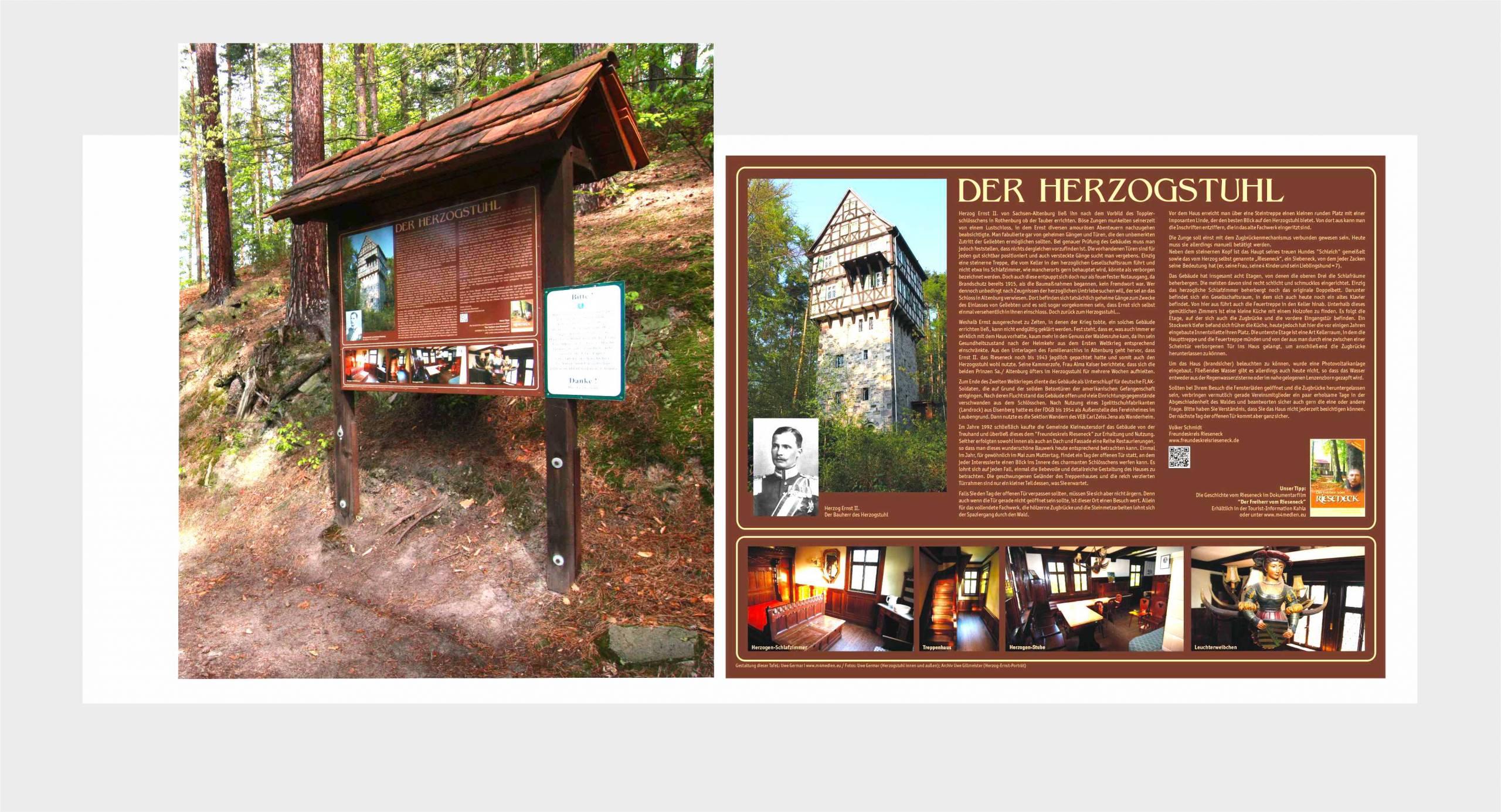 Freundeskreis Rieseneck e.V. – Touristische Info-Tafel Herzogstuhl