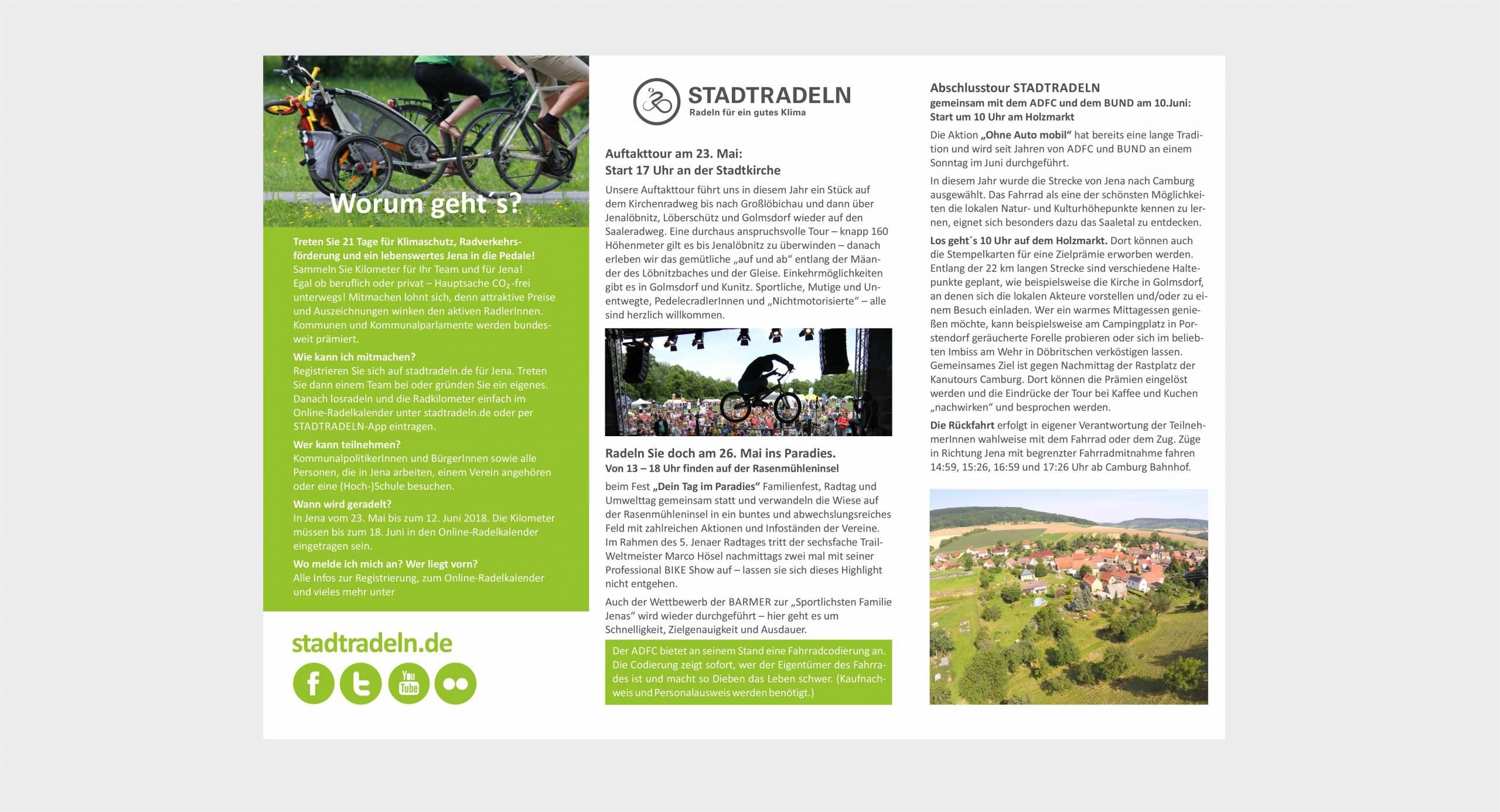 Stadt Jena, Stadtentwicklung – Werbekampagne Stadtradeln Jena
