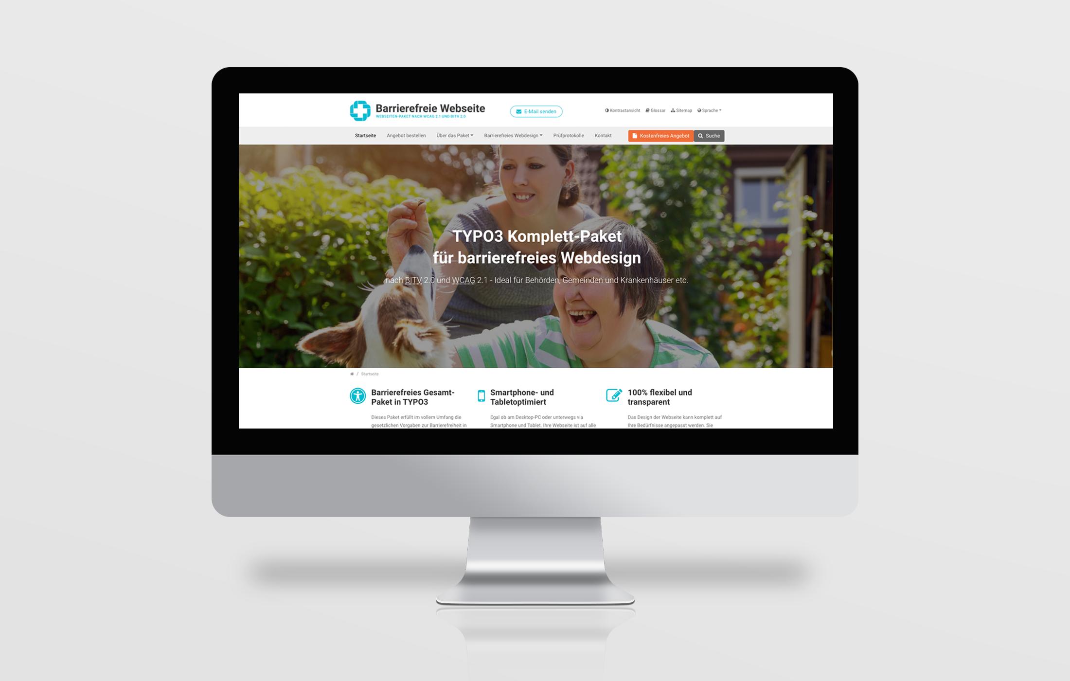 Barrierefreie Webseite - Design & Programmierung in TYPO3